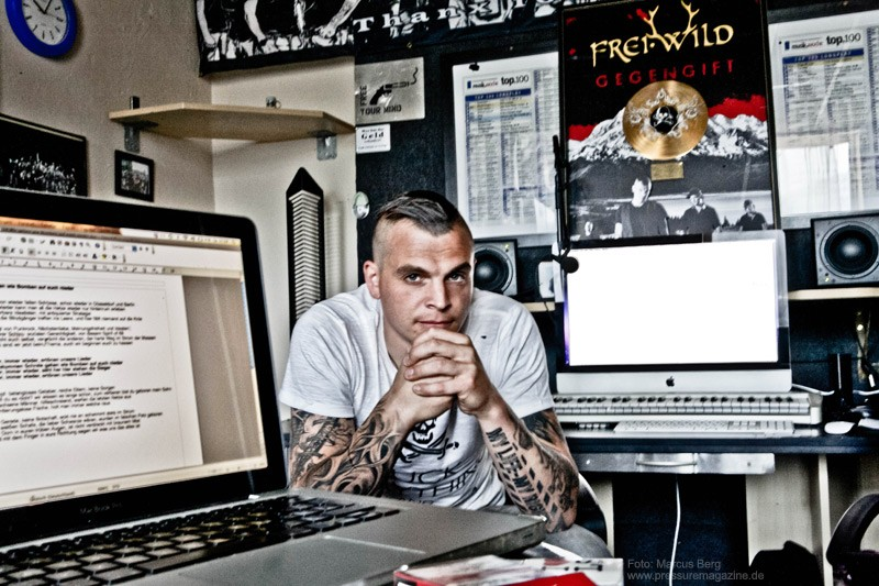 Philipp Burger von Frei.wild im Studio Brixen Foto: Marcus Liprecht / Pressure-Magazine.de