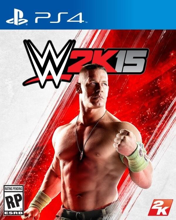WWE 2K15 videogames cover artwork
