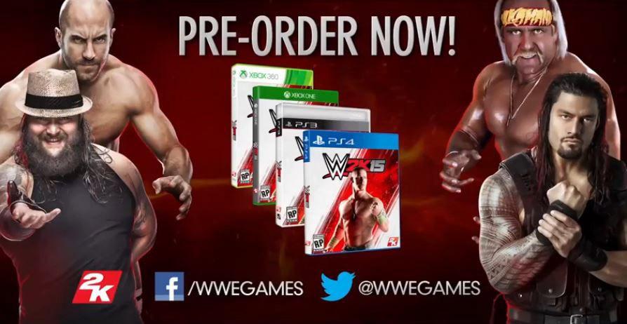 WWE 2K15 games preorder