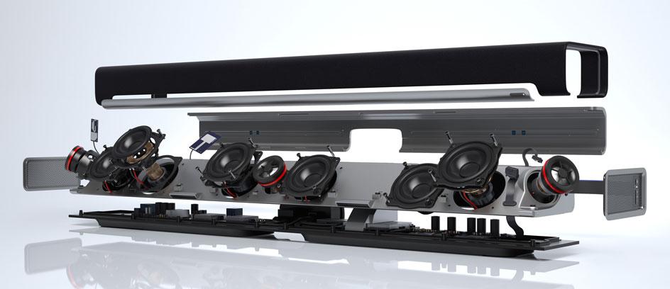 Die Sonos Playbar in einer 3D-Darstellung - Foto: Sonos