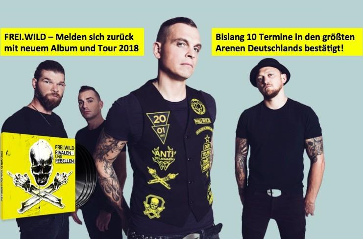 Tickets kaufen Frei.Wild Tour 2018 Global concerts Foto: Patrick Schneiderwind