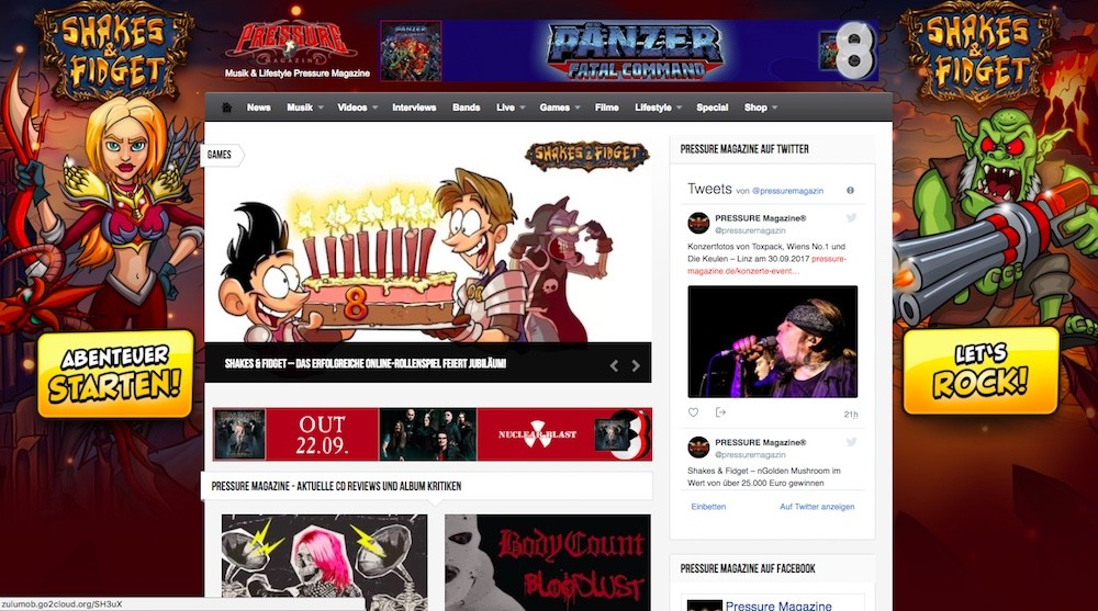 Online-Rollenspiel Shakes and Fidget Wallpaper Site-Takeover