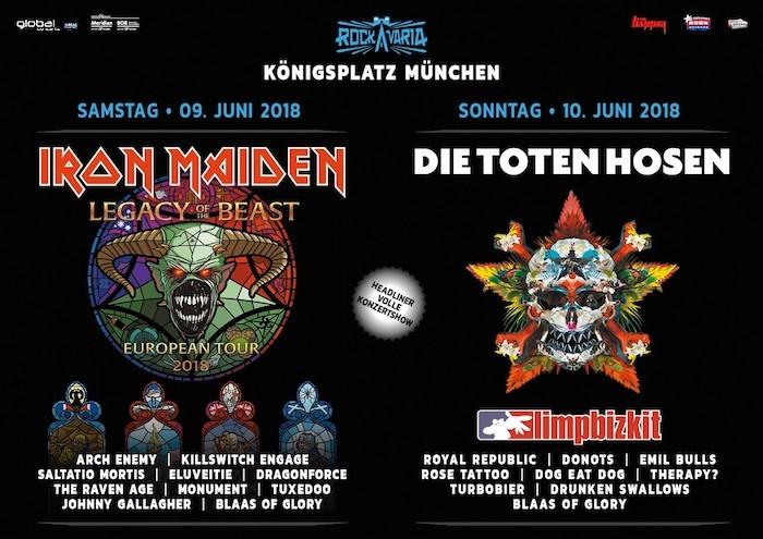 rockavaria 2018 Bands Lineup Tickets Infos zeiten einlass ende Karten bestellen