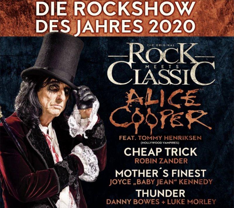Rock meets Classic Tour 2020 startet - Top-Act Alice Cooper